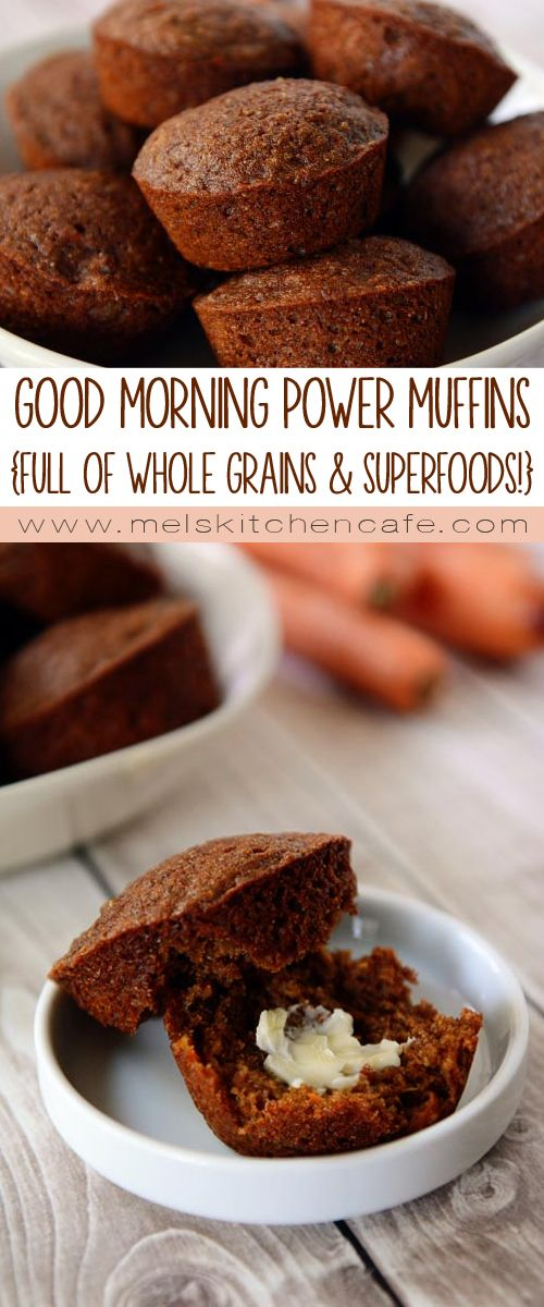 Packed with superfood after superfood, these power muffins have no added sugar beyond molasses!