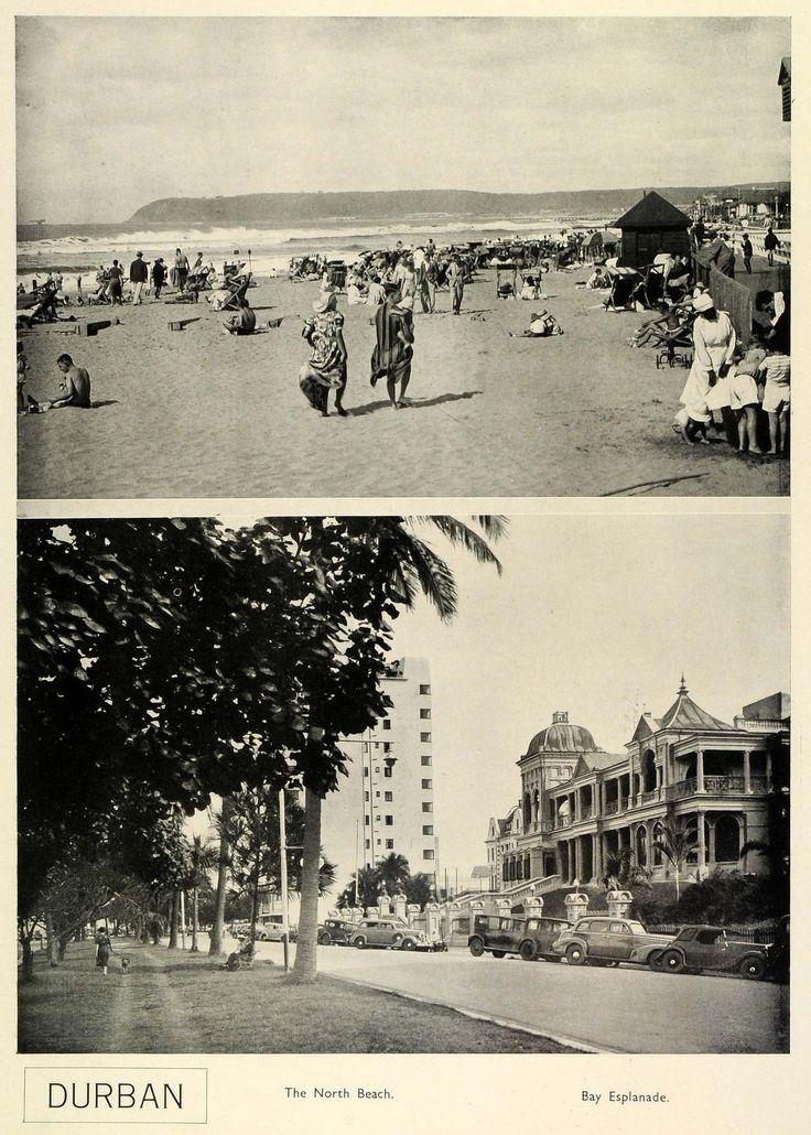 1939 Print South Africa City Durban KwaZulu-Natal North Beach Bay Esplanade SAA1