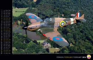 Hawker Hurricane over a castle in Belgium - A nice warbird - Photographer Pascal Rioland - Calender to order on ampa.ch