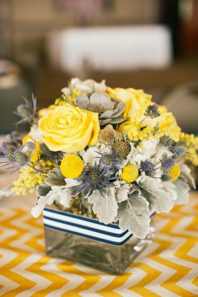 Nautical Themed Weddings Centerpieces | wedding centerpiece. Would be cute with a little blue and purple