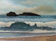 tableau marine biarritz vague ocean plage : Vague de Biarritz