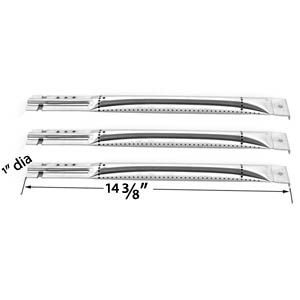3 PACK UNIVERAL STAINLESS STEEL GAS GRILL BURNER FOR CHARBROIL, KENMORE, MASTER CHEF, NEXGRILL & MEMBERS MARK GAS GRILLS