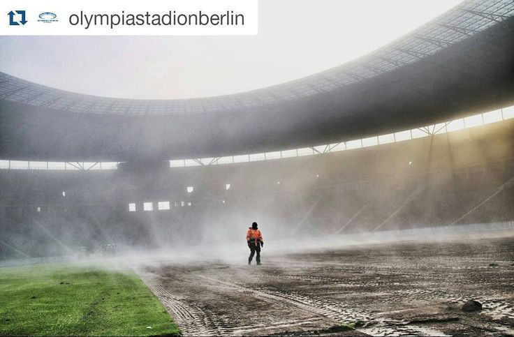 #Repost @olympiastadionberlin  Rasentausch samt Nebelmaschine!  Put on the fog machine!  #visit_berlin #berlincity #picofftheday #photooftheday #instagram #instamoments #webstagram #fog #nebel #morning #gutenmorgen #herthabsc #hertha #hahohe #fans #ausberlinfürberlin #ostkurve #herthaberlin #herthaner #blauweiß #fussball #dfb #fußball #bundesliga #berlincity #berlinstagram