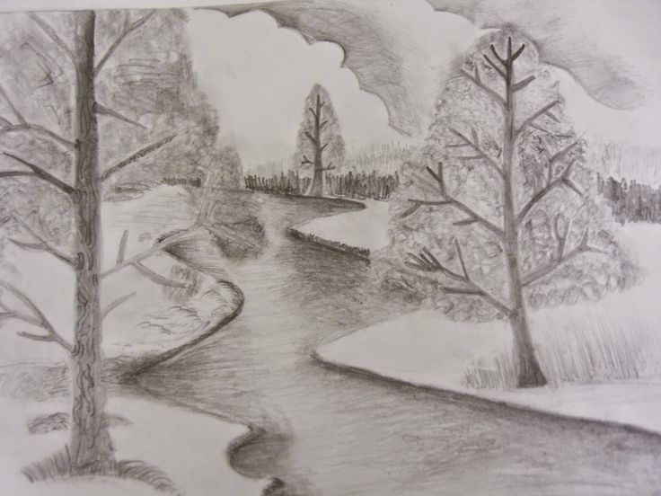 Scenery Drawing Pencil Shading Easy Pencil Drawings Of ...