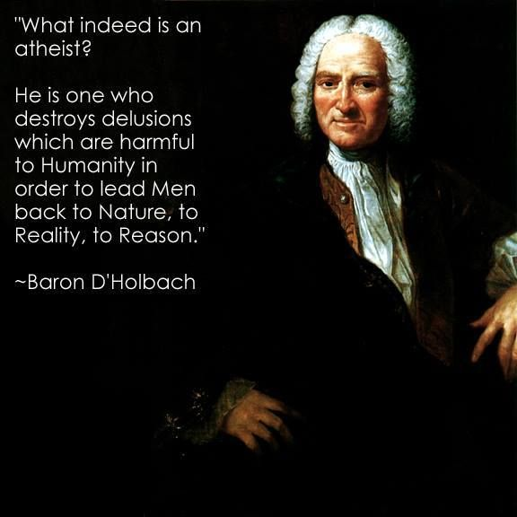 Baron d'Holbach (1723-1789) French-German author, philosopher, encyclopedist and a prominent figure in the French Enlightenment.