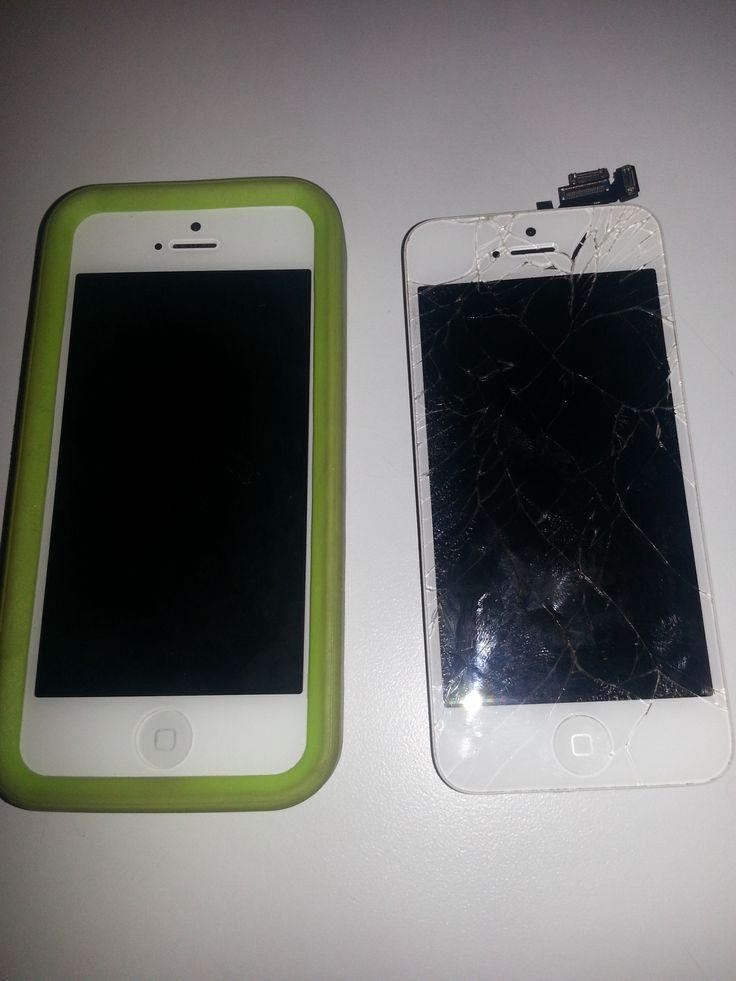 Recent iPhone 5 repair #heretech1 #repairs #screens #iphone #apple