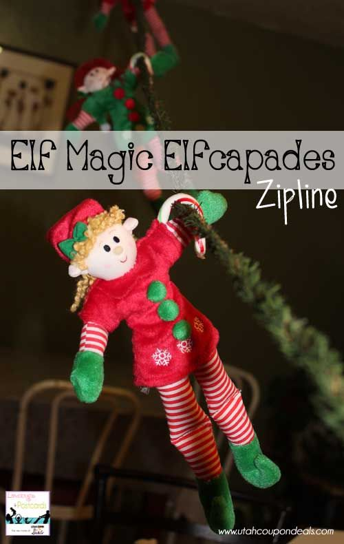 Elf Magic Elfcapades Ideas : Zipline! #elfmagic #elfcapades