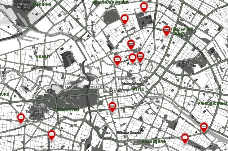 Berlin's burger scene is as awesome as it is varied, but where do you start? To help you we have made this map that points out the recommendations from some of Berlin's best food blogs and magazines. #map #burgers #Berlin