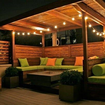 Backyard Gazebo Made From Pallets      -   #pallets    #diy