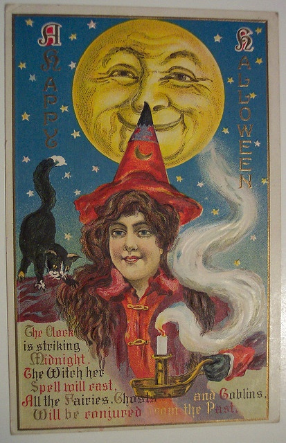 Vintage Halloween Postcard by riptheskull, via Flickr