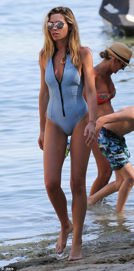 Abbey Clancy: Going barefoot, the blonde beauty wore a pair of designer sunglasses as she par...