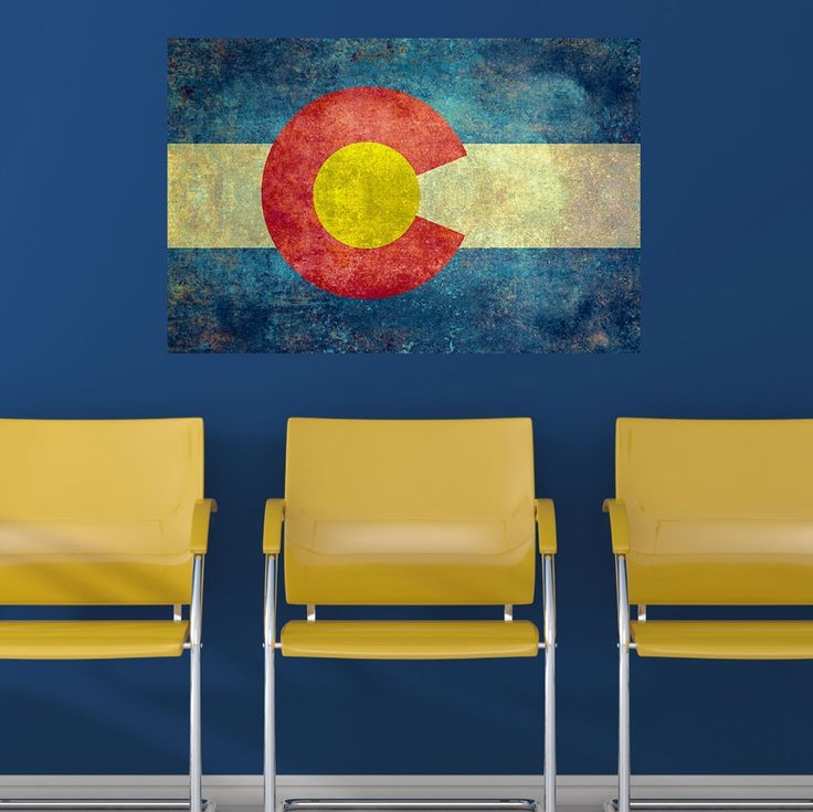 50% OFF IRREGULAR - Colorado State Flag Wall Sticker Decal by Bruce Stanfield