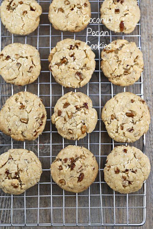 Coconut Pecan Cookies | Recipe | Coconut, Nom nom and To die for