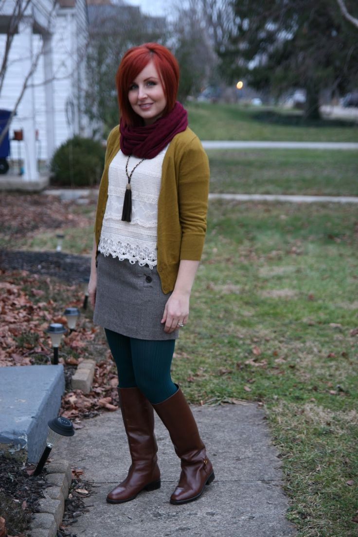 goodwill outfit | Thrift and Shout: Cute Outfit of the Day: Lace and Tweed