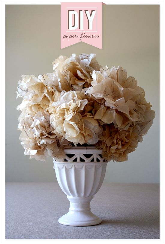 Whatcha up to today? How about some DIY paper flowers?  Learn how to make these pretty babies. Sounds like a delight to me, but first ... coffee. http://www.weddingchicks.com/2012/06/29/diy-paper-flowers/