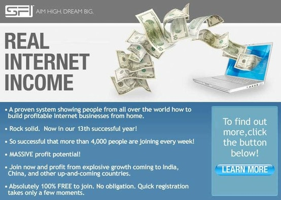 Record-breaking growth has driven us to the top of Internet marketing businesses. You can build a profitable home-based business working part-time from your home computer! Training, support, Websites, and products all provided! Enroll FREE!  http://www.sfi4.com/12342247/FREE