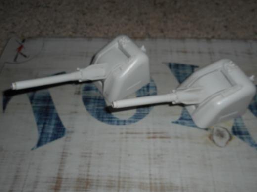 Hasbro Gi Joe Arah Uss Flagg 1985 Part Lot Of 2 Gun Turrets Unbroken Tabs