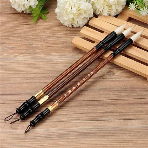 Prezzi e Sconti: #3pcs cinesi pennelli pittura calligrafia set  ad Euro 3.43 in #Prodotti penne e scrittura #Elettronica