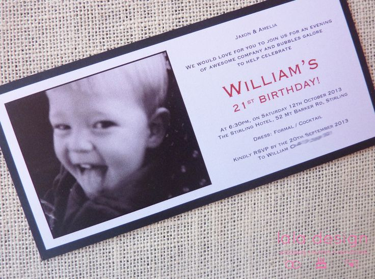 William 21st Birthday