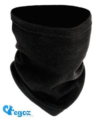 Egoz Pistachio Jeunesse Size 4-en-1 Micro Polaire cache-cou / Masque / Chapeau Snood / écharpe militaire Fleece Neck Warmer Black visage…
