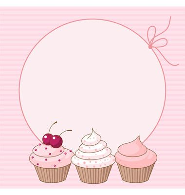 cupcake card vector :)