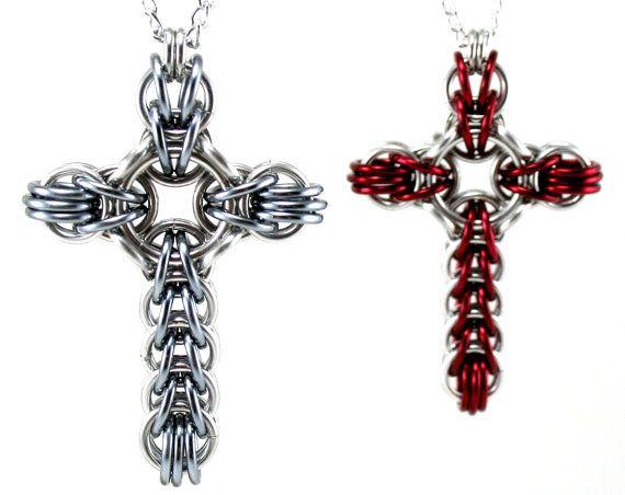 Celtic Style Cross Necklace  Large by CelestialBlacksmith on Etsy, $13.00