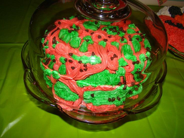 monster watermelon cake