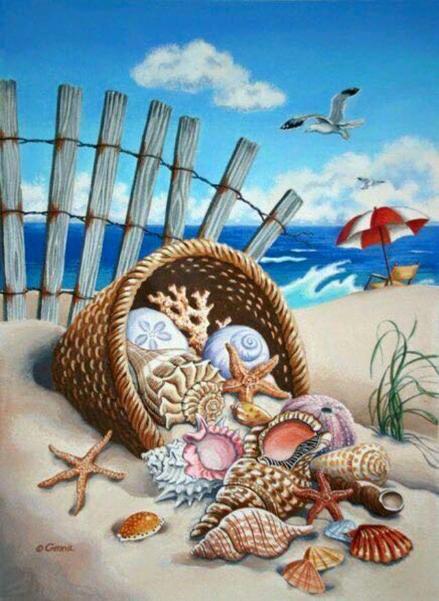 Морская тема рисунок чеснок