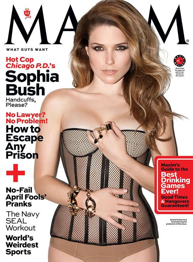 Sophia Bush looks smoking hot on the April 2014 cover of Maxim!