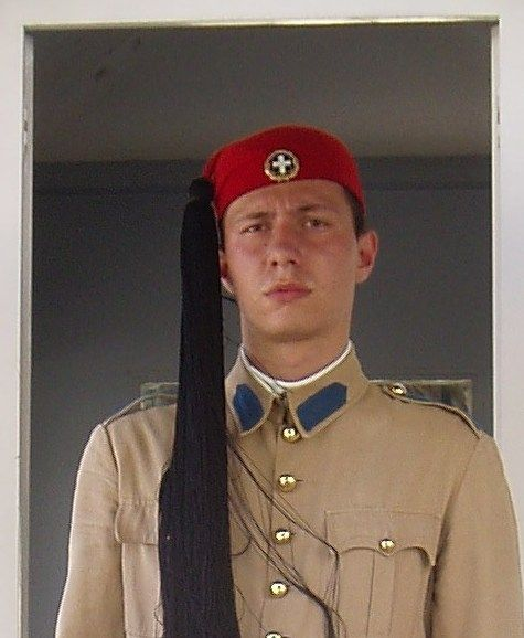"""ATHENS  An """"evzoni"""" guard at the presidential palace."""