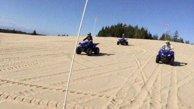 SAND DUNING OR SANDBOARDING? EITHER WAY, IT'S TIME TO RIDE THE OREGON DUNES! #OregonCoast #TravelCoosBay