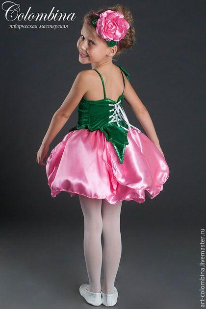 Купить или заказать Костюм розы в интернет-магазине на Ярмарке Мастеров. Карнавальный костюм розы для девочки комплектация: платье, обруч с цветком 134-146+300…