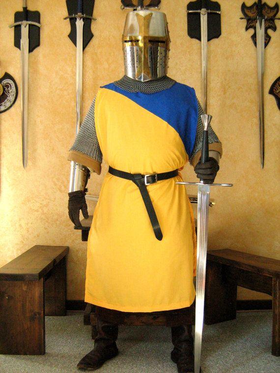 Medieval Knight Heraldry SCA Surcoat Tunic Tabard