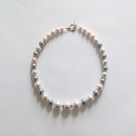 Classic Handmade Pearl Necklace  custom pastel by ThousandDrops