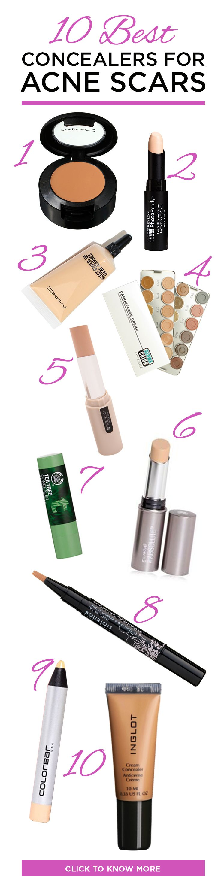 Best Concealers For #Acne Scars – Our Top 10
