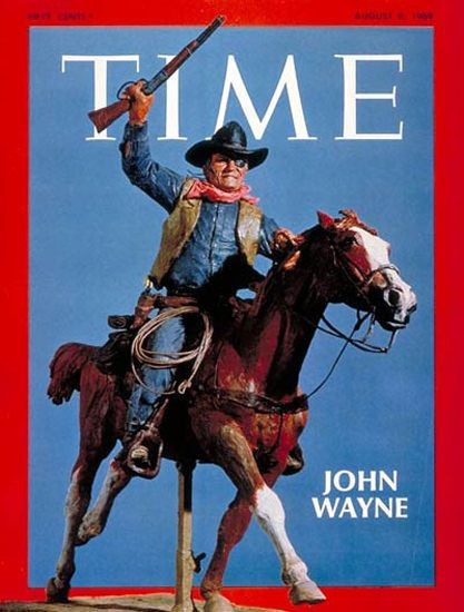 "1969-08 John Wayne Copyright Time Magazine - www.MadMenArt.com | Time Magazine Covers feature a chronological timeline of cover personalities and celebs – a unique kind of ""Who's Who."" #TimeMagazine #Vintage #Time #Magazines #Covers #MagazineCovers# #Covers #Celebs #Celebrities #History"
