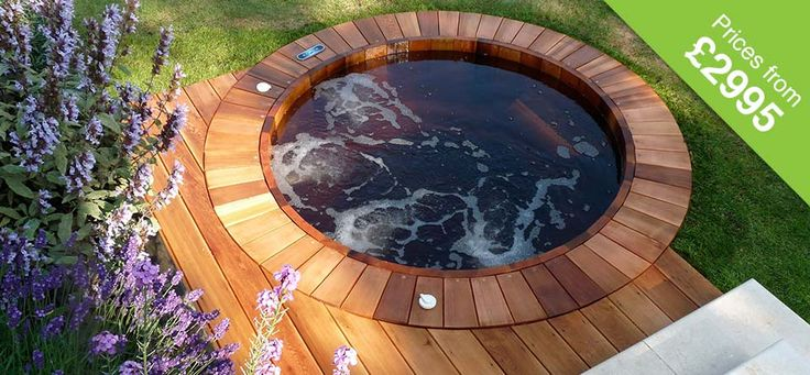 Beautiful hardwood hot tub, sunken into the ground!