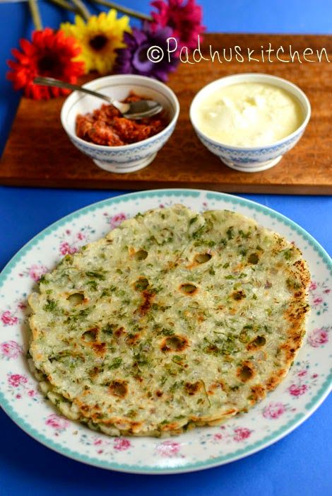 Akki Roti -Karnataka special. Akki Rotti means rice pancake in the native language, Kannada (source-wiki). Finely chopped onions, grated carrots, chopped coriander, cumin seeds, sesame seeds and even tender mochai (field beans) can also be added to the akki roti dough.