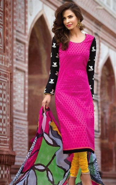 Picture of Exquisite Black and Pink Party Wear Salwar Suit