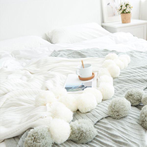 Pom Pom Throw Blanket - ApolloBox
