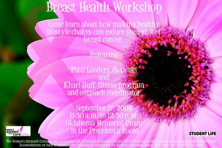 Women's Outreach Center - Susan G Komen - Breast Cancer Awareness Campaign - Workshop