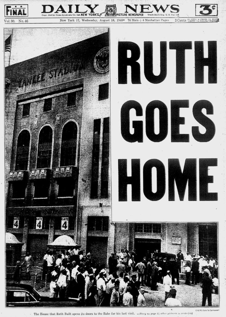 best babe ruth death ideas atlanta braves cubs  thousands turn out to pay their respects to babe ruth at yankee stadium following his death