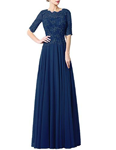 Fnina Women's Long Mother of Bride Dress with Sleeves For...