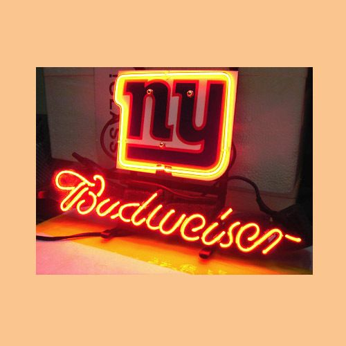 "Custom Business NEON SIGN board For  NEW YORK GIANTS FOOTBALL BUDWEISER GLASS Tube BEER BAR PUB Club Shop Light Signs 17*14"" #Affiliate"