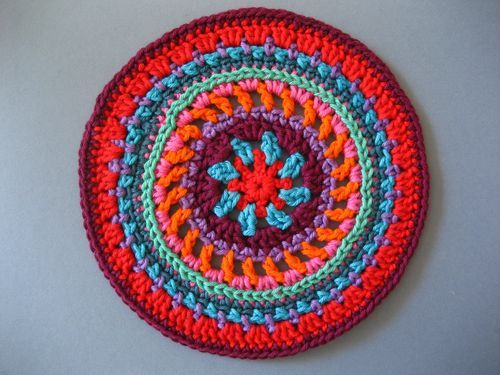 Beautiful Mandala Wheel pattern by Lucy at Attic24 Have to try this!
