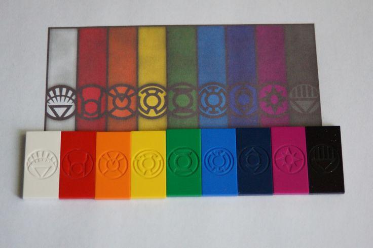 DC Lantern Corps logos before painting.