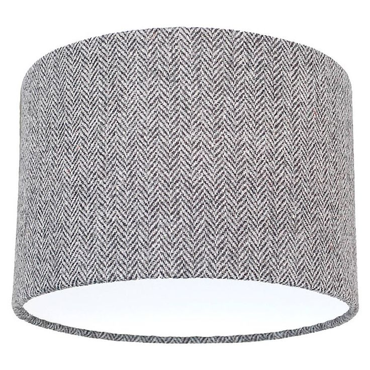 grey herringbone harris tweed lampshade by quirk | notonthehighstreet.com