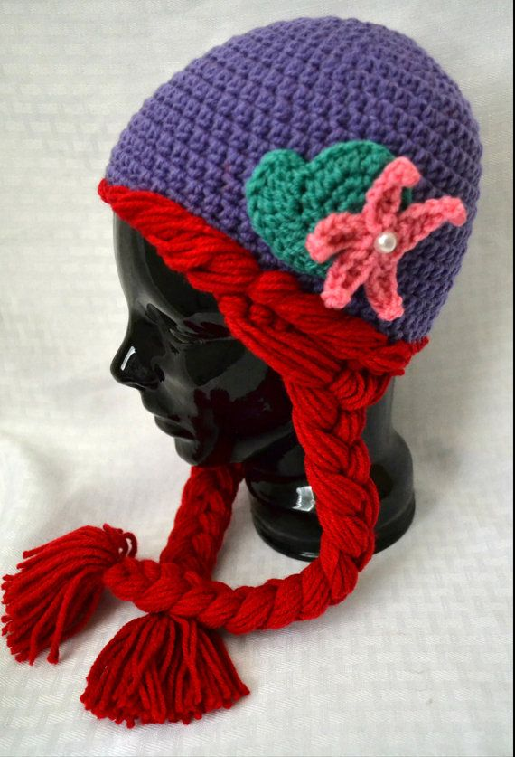 Free Crochet Patterns For Disney Hats : 25+ best ideas about Little mermaid crochet on Pinterest ...