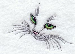 Kitten Face design (I1002) from www.Emblibrary.com