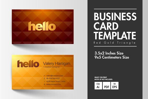 The 2478 best business card images on pinterest business card business card red gold triangle colourmoves